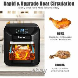 10.6 Quart Air Fryer Oven 1700W 7 in 1 Rotisserie Home with 8 Accessories
