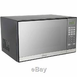 1000W Microwave Oven with Grill Countertop Kitchen Cooker Mirror Finish Stylish