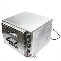 110V 3KW Commercial Electric Pizza Baking Oven Bread Pizza Oven Stainless steel