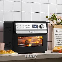 12-in-1 Air Fryer Oven 23 QT Digital Toaster Oven Rotisserie with 9 Accessories