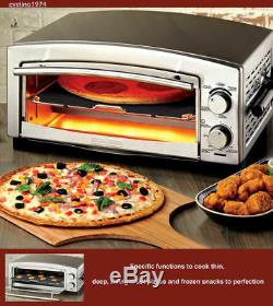12Pizza, Toaster Oven and Snack Maker, Bake Frozen/Fresh Pizza in under 5 Minutes