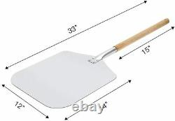 15 x 12 inch Pizza Stone Grill Baking Stone for Oven and BBQ, Large Pizza Peel