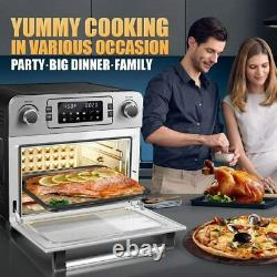 1700W Electric Air Fryer Oven 23L Countertop Toaster Oven Rotisserie Bake Rack