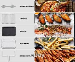 1700W Power Air Fryer Oven 23L Cooker Roaster Baking Dehydrator Grill Rotisserie