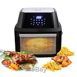 1800W Extra Large Air Fryer Toaster Oven Rotisserie Dehydrator 8 Presets 16.91Qt