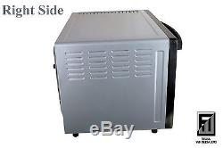 1800W Fan Forced Convection Rotisserie Family Oven 45L Baking Tray Rack Skewers
