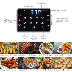 19 QT Multi-functional Air Fryer Oven 1800W Dehydrator Rotisserie with Accessories