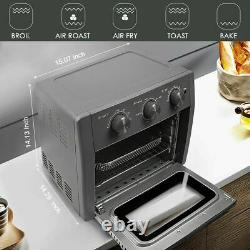 21 Quart Air Fryer Toaster Oven 5-IN-1 Convection Toaster Oven Stainless Steel