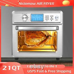 21QT Air Fryer Oven 16-in-1 Electric Presets for Bakingwith LED Display Choice