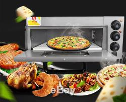 220V 2KW Commercial Electric Pizza Oven Electric Cake Bread Pizza Baking Oven