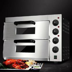 220V 3KW 3000W Commercial Electric Baking Oven Pizza Cake Bread Roasted Oven NEW