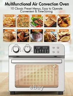 24 QT/6 Slices 10-in-1 Air Fryer Toaster Oven 1700W Oil less 150-450 ETL US
