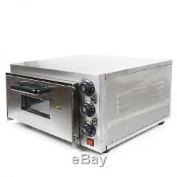 2KW Single Deck Commercial Electric Pizza Bread Baking Oven 110V Stainless Steel