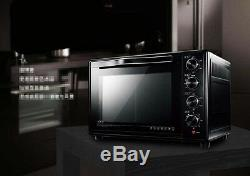 38L Home Commercial Black Multi-function Baking Tool Benchtop Electric Oven