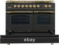 40 Nostalgie Series Freestanding Double Oven Dual Fuel Range with 5 Sealed Burn