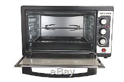 45L 1800W Convection Rotisserie BBQ Toaster Bake Family Electric Bench Top Oven