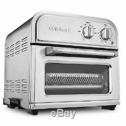 Air Fryer Toaster Oven Countertop Stainless Steel with Basket, Baking Pan Silver
