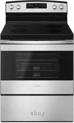 Amana 30 Stainless Steel Electric Range Oven 4 Smooth Top Burners LOCAL PICKUP