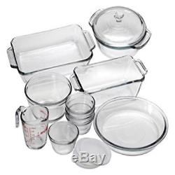 Anchor Hocking Oven Basics 15-Piece Bake Set Made In Usa New