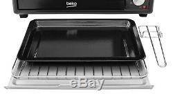 BEKO Mini Oven 28L Grill Hob TWIN Hot Plate Cooker Grill Roast Bake ELECTRIC