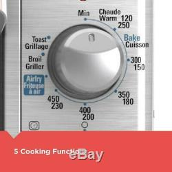 BLACK+DECKER Toaster Oven Wide Bake Air Fry 8 Slice Stainless Steel With Timer