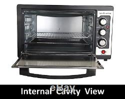 BOS & SARINO Fan Forced Convection Rotisserie Bake Casserole Pizza Oven HUGE 45L