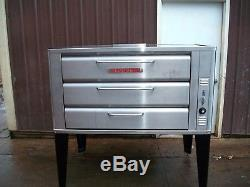 Blodgett Stainless 981 Natural Deck Gas Double Pizza Oven Brand New Stones Bake