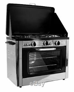 CAMP CHEF PORBABLE PROPANE PIZZA BAKE OVEN With 2 BURNER STOVE GAS GRILL COVEN