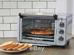 CONVECTION OVEN COUNTERTOP Pizza Toaster Stainless Steel Baking Broiling Kitchen