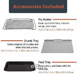 COSORI 12-in-1 Air Fryer Toaster Oven Rotisserie Dehydrator 32qt 6 Accessiories