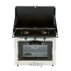 Camp Chef Propane Gas Range Stove 2-Burner Heat Thermometer Painted Steel Grill