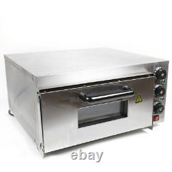 Commercial 2000W Electric Pizza Baking Oven Cake Bread Thermosat Stainless Steel