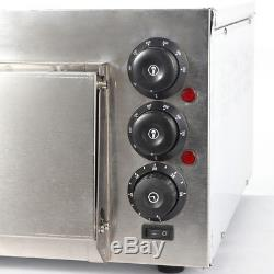 Commercial Countertop 16 Pizza Baking Oven Home Kitchen Baker Stainless Steel