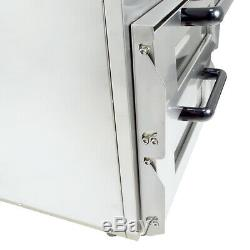 Commercial Pizza Baking Oven Large Twin Deck Three Phase Electric 2x16 3kW