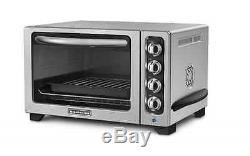 Convection stainless Toaster Countertop Oven Contour Bake Silver