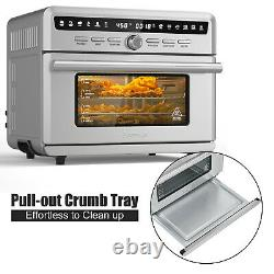 Costway 26.4 QT 10-in-1 Air Fryer Toaster Oven Dehydrate Bake 1800W with Recipe