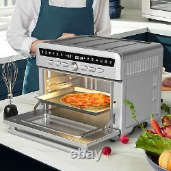 Costway 26.4 QT 10-in-1 Air Fryer Toaster Oven with Recipe Dehydrate Bake 1800W