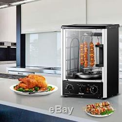 Costway Vertical Rotisserie Oven Countertop Rotating Grill with Bake, Turkey 2 W