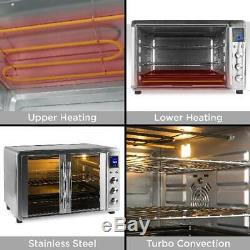 Countertop Turbo Convection Toaster Rotisserie Oven Extra Large Bake Kitchen