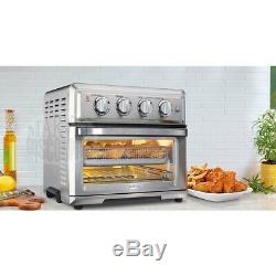 Cuisinart 1800W 0.6 Cu. Ft. Air Fryer Toaster Oven with Thermostat, Stainless Steel