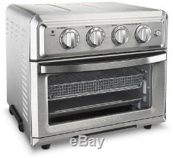 Cuisinart Air Fryer Toaster Oven Brushed Stainless Steel Adjustable Thermostat