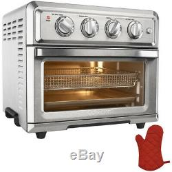 Cuisinart Convection Toaster Oven Air Fryer with Light, Silver with Oven Mitt