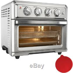 Cuisinart Convection Toaster Oven Air Fryer with Light, Silver with Silicon Trivet