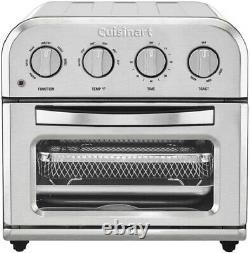 Cuisinart TOA-28 Compact Toaster Oven Airfryer, Silver, Brand New