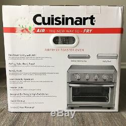 Cuisinart TOA-60 1800W Stainless Steel Air Fryer Toaster Oven Silver
