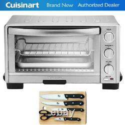 Cuisinart TOB1010 1800W Toaster Oven Broiler + 5pc Knife Set with Cutting Board
