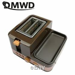 DMWD Electric Multifunction Breakfast Machine Bread Baking 2 Slices Toaster Oven