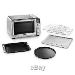 DeLonghi Toaster Oven Livenza Stainless Large 4-Level Bake Roast Broil Non-Stick