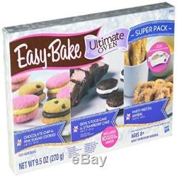 Easy Bake Refill Super Pack Oven Mix 12 Mixes Hasbro Ultimate Cookies Cake Toy