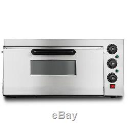 Electric 2000W Pizza Oven Single Deck Cooking Bake Broiler Rotisserie 110V